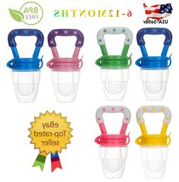 US Baby Feeding Pacifier Fresh Food Fruits Feeder,