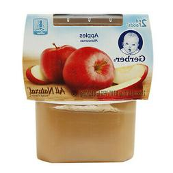 GERBER 2nd Foods Baby 2-Pack Pears Apples 4oz each container