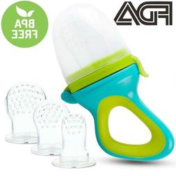 【3 Size】Baby Fresh Food Feeder Fruit Pacifier Silicone F