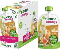 6 Sprout Organic Stage 2 Plant Protein Baby Food Pouches Apr