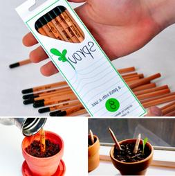8 DIY Wood Pencils Bonsai Sprout Seeds Kid Student Office Sc