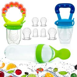 Baby Food Feeder, Pacifier Fruit- Fresh Silicone Bottle Sque