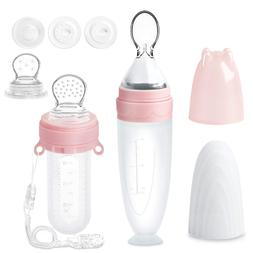 Termichy Baby Food Feeder Set, Silicone Pacifier Feeder and