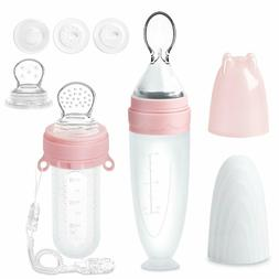 Baby Food Feeder Set, Silicone Pacifier Feeder and Squeeze S