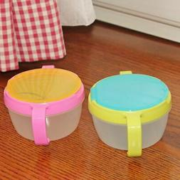 Baby Food Storage Bowl Seal Proof Snack-Catcher Anti-Spill T