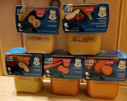 Gerber Baby Foods Sitter 2nd Stage Lot Of 10 Packs  Mixed Fl