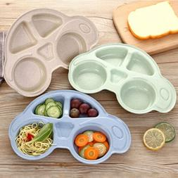 Baby Toddler One Piece Plastic Placemat Plate Dish Food Tray