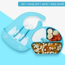 Baby Silicone Feed Plate Food Grade Children's Dishes Bowl T