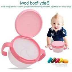 Baby Snack Bowl Food Container Feeding Infants Kid Spill Pro