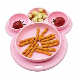 Baby Snack Silicone Mat Toddler Placemat Mat Suction Table K