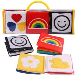Baby Soft Cloth Book Early Educational Newborn Crib Toys for