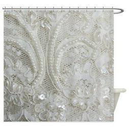 CafePress Boho Chic French Lace Shower Curtain