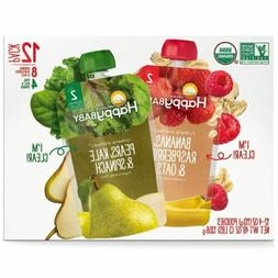 Happy Baby Clearly Crafted Multi-Pack Organic Baby Food, 4 o