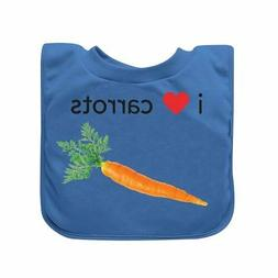 green sprouts Favorite Food Absorbent Baby Bib, Blue Carrots