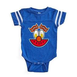 CafePress FIN Food Face Baby Football Bodysuit