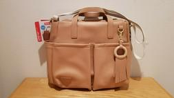 Skip Hop Greenwich Simply Chic, caramel, luxe vegan leather