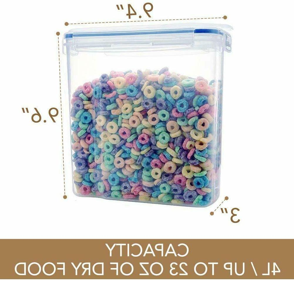 2 Cereal Dry Food Storage with Airtight Lid