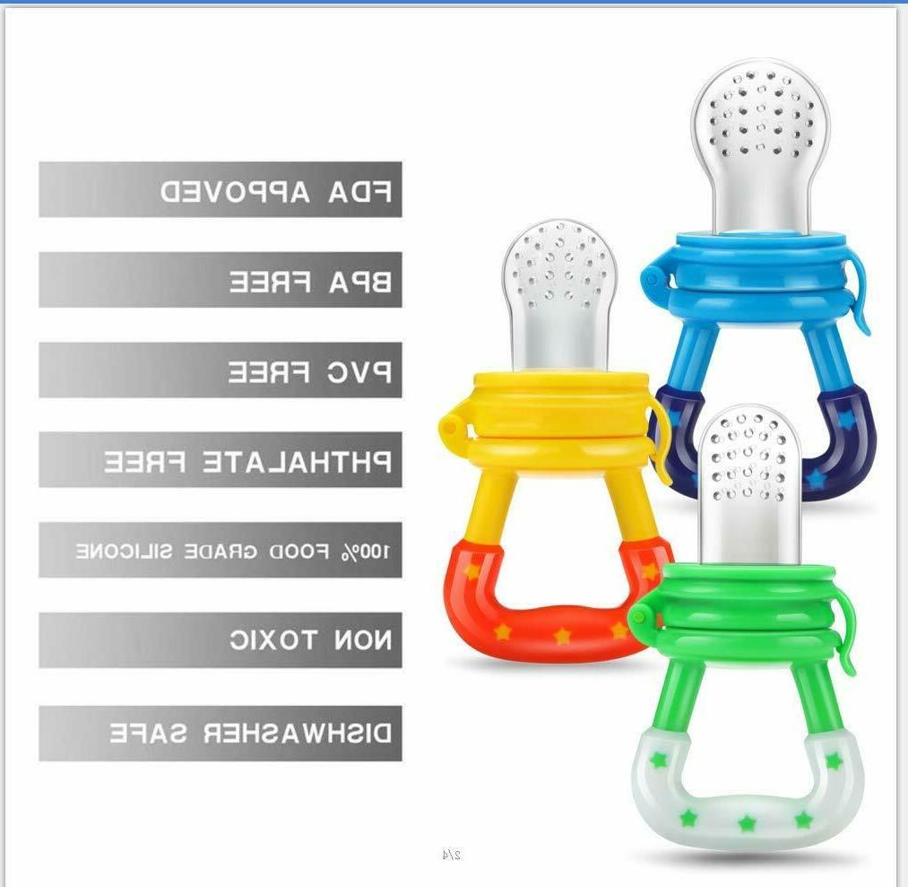 3 Feeders Toy Pacifier Fresh Fruit Silicone Pouch Nipple
