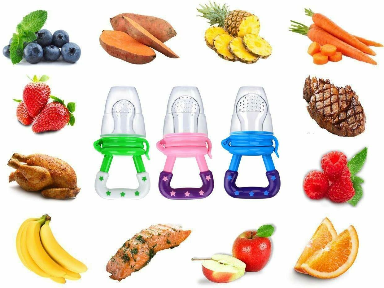 3Pack Baby Fruit Feeder Pacifier-Fresh Free Same Day Shipping.