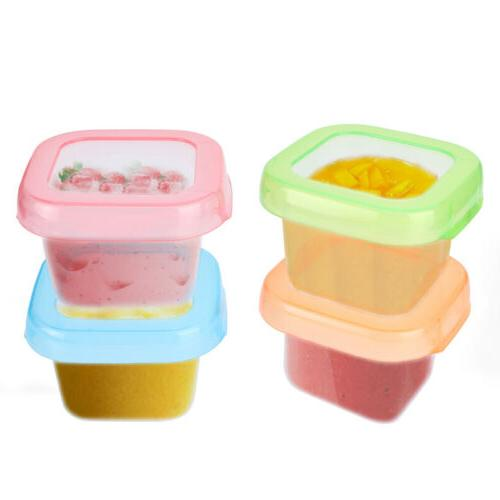 Baby Food Storage Containers  - 4oz Reusable Stackable Leakp