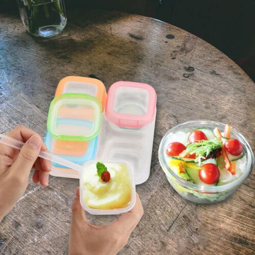 Baby Food Containers - Reusable Leakproof w/Lids