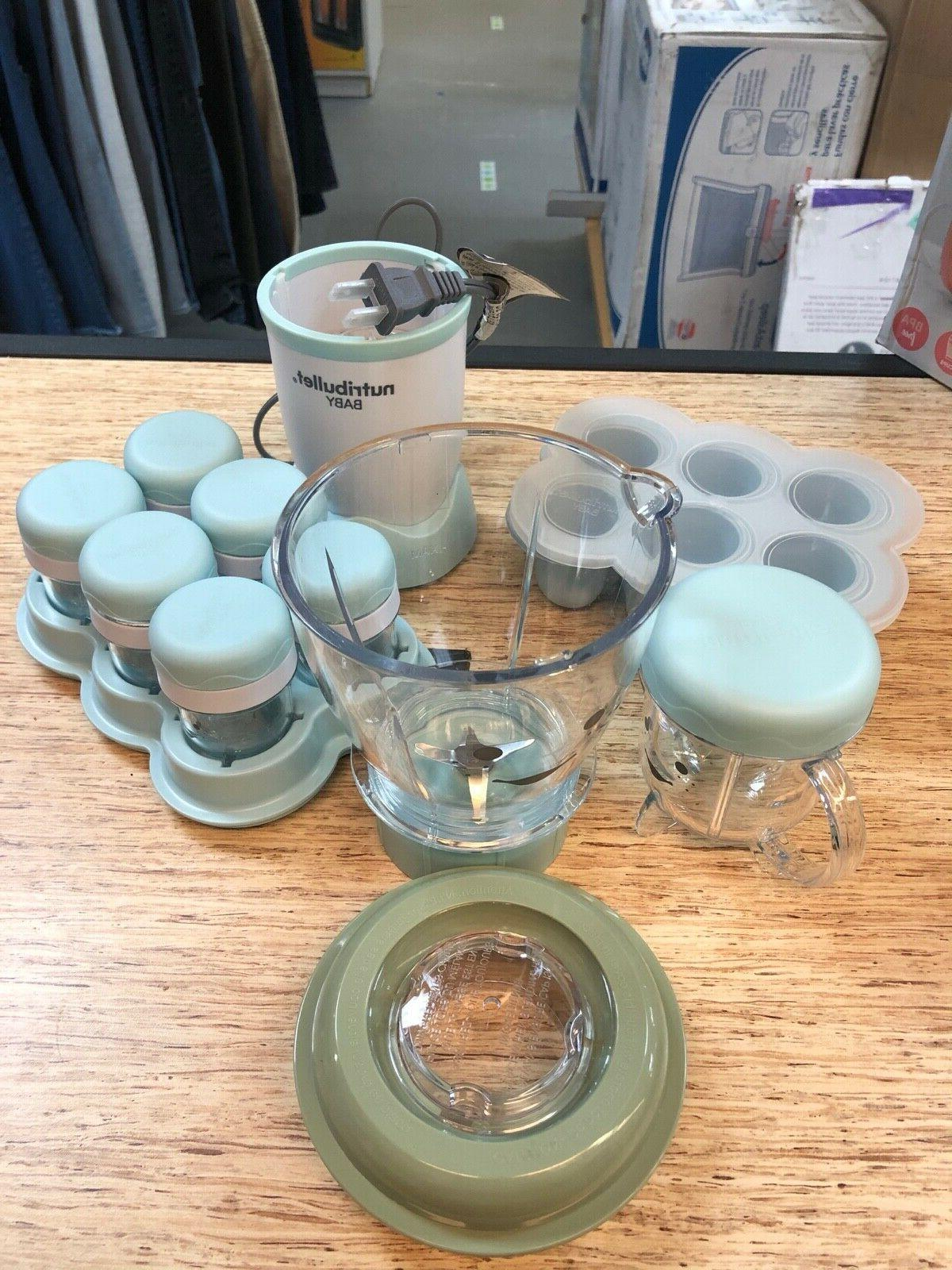 baby food prep system in blue has