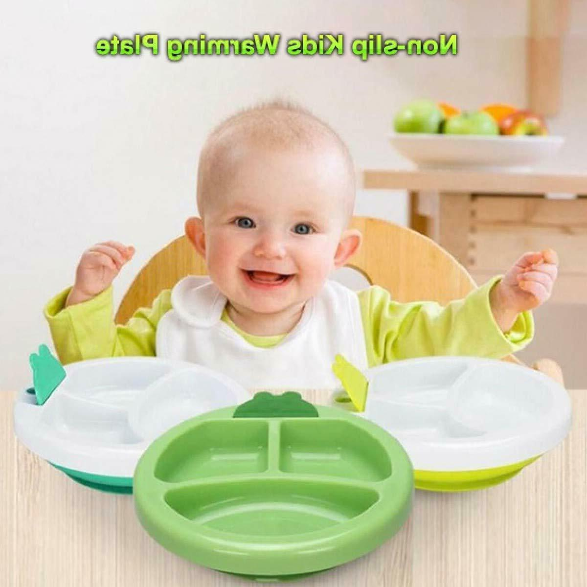 Baby Food Stay Plate Large Food Divided Plate Kids Toddler