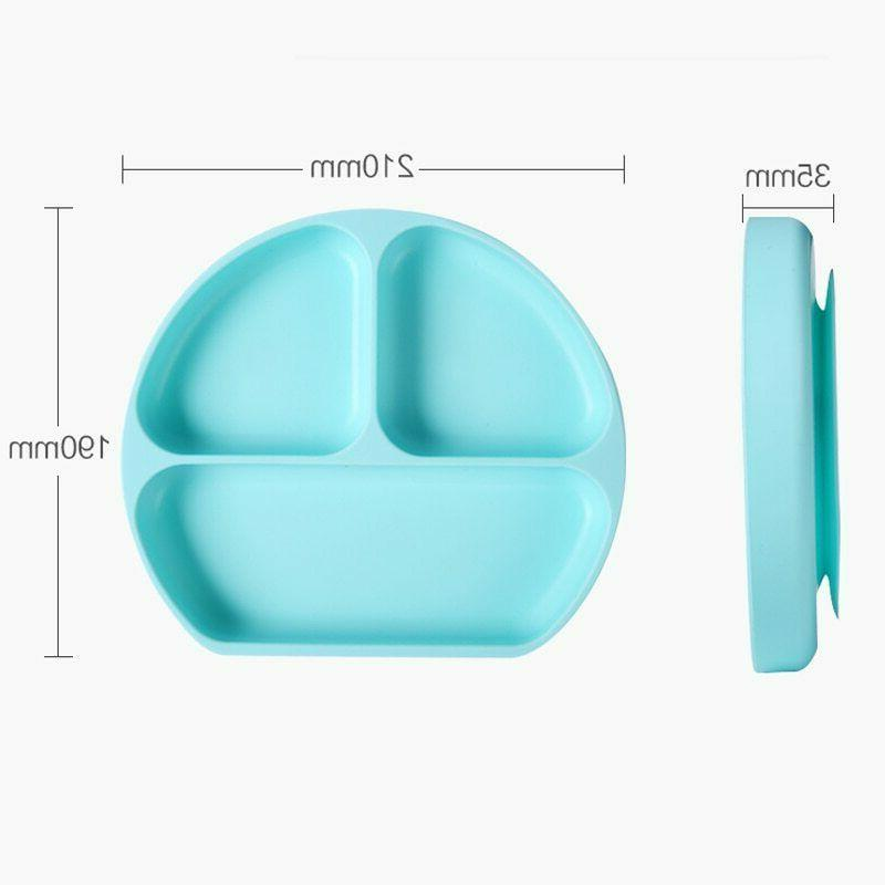 Baby Silicone Feed Plate Bowl Toddler