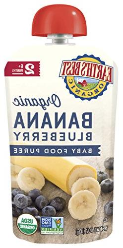 Earth's Best Organic Stage 2 Baby Food, Banana Blueberry, 4