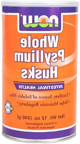 NOW Foods Psyllium Husk Whole,  12 Ounce Canister