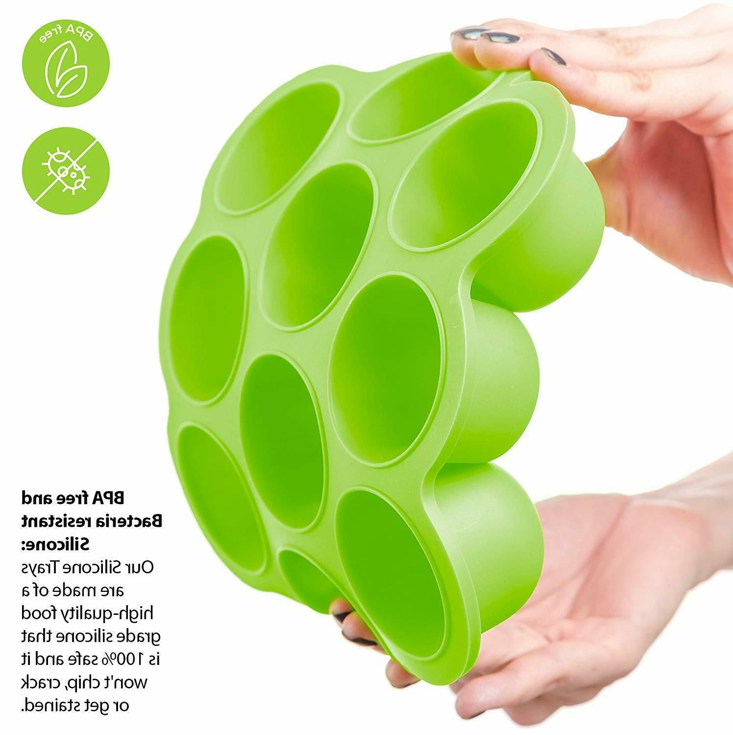SILICONE BABY TRAY STORAGE CONTAINER W/CLIP-ON LID - LARGE