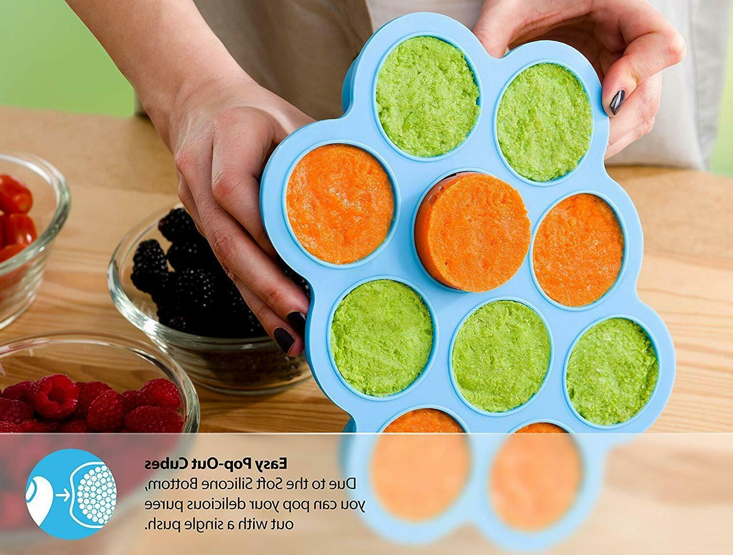 SILICONE FREEZER TRAY W/CLIP-ON 10 LARGE C