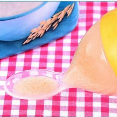 Silicone Feeding Bottle With Spoon Kid Food Rice Cereal Cup