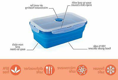 Thin Containers Collapsible Silicone Airtight Lids
