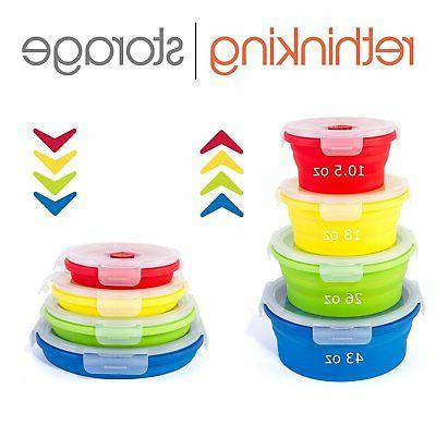 Thin Collapsible Silicone Lids