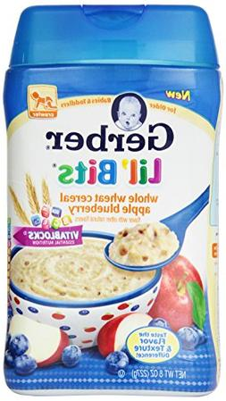 Gerber Lil Bits Whole Wheat Apple Blueberry Cereal, 8 Ounce