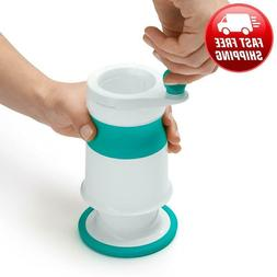 Mash Maker Baby Food Mill, Teal, Stainless steel blade and g