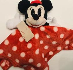 Disney Mickey Mouse Baby Blanket Lovey Red Polka Dots Junk F