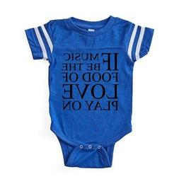 CafePress Music Food Love Baby Football Bodysuit