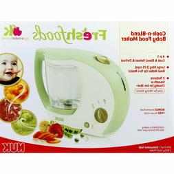 NEW in box NUK Fresh foods Cook N Blend Baby Food Maker by A