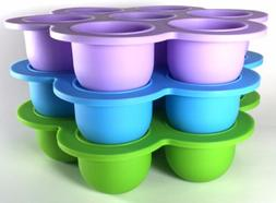 NEW Silicon Baby Food Freezer Tray by Num-e-Nums For Homemad