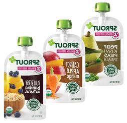 Sprout Organic Baby Food Pouches Stage 2, Carrot Apple Mango