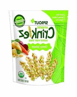 Sprout Organic Crinklez Toddler Snacks Cheesy Spinach 1.5 Oz