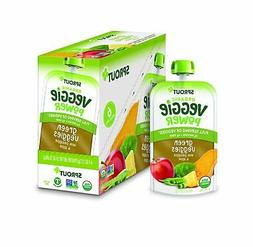 Sprout Organic Green Veggies/Pineapple & Apple 12 Pc Clean I