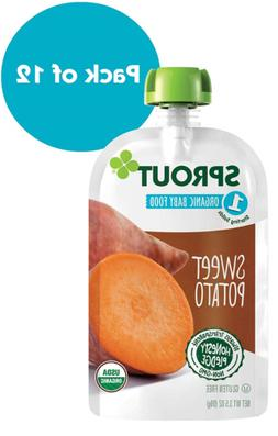 Sprout Organic Stage 1 Baby Food Pouches, Sweet Potato, 3.5