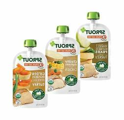Sprout Organic Stage 3 Baby Food Pouches Meat Variety  4 Oz