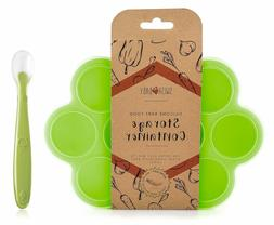 silicone baby food freezer tray and storage