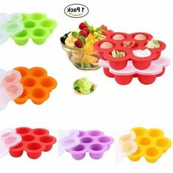 Silicone Weaning Baby Food Freezer Tray 7 Pots Storage Conta