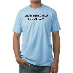 CafePress Will Code SQL For Food Fitted T Shirt Fitted Tee