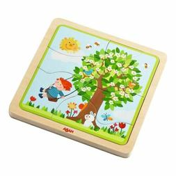 HABA Wooden Puzzle My time of Year with Four Layers - One fo